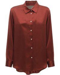 Asceno Пижама Рубашка Из Шелкового Атласа The London - Многоцветный