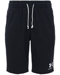 Under Armour Sport Style Cotton Terry Sweat Shorts - Black