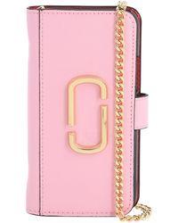 Marc Jacobs Iphone 11 Pro-cover Aus Leder Mit Kette - Pink