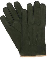 Mario Portolano Suede Gloves - Green