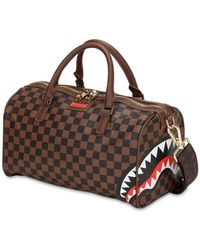 "Sprayground Sac Duffle En Pvc ""Sharks In Paris"" - Marron"