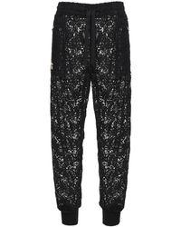 Dolce & Gabbana マクラメトラックパンツ - ブラック