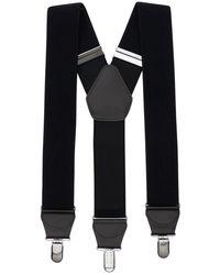 Comme des Garçons Y-type エラスティックサスペンダー - ブラック