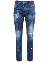 "DSquared² 16.5cm Jeans Aus Stretch-denim ""cool Guy"" - Blau"