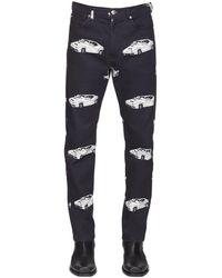 Versace 18cm Jeans Aus Baumwolldenim Mit Druck - Schwarz