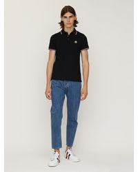 Moncler コットンピケポロシャツ - ブラック