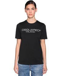 DSquared² コットンジャージーtシャツ - ブラック