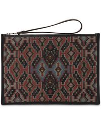 Etro Printed Leather Pouch