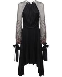 Lanvin Kleid Aus Georgette - Schwarz