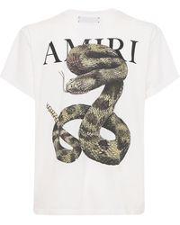 Amiri Snake ジャージーtシャツ - ホワイト