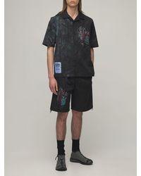 McQ Eden High Tie Dye Cotton Shorts - Black