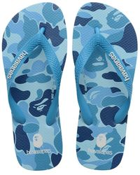Havaianas Bape X Top Flip Flops - Blue