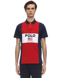 Polo Ralph Lauren カラーブロックコットンピケポロ - ブルー