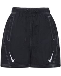 Nike Swoosh ハイウエストウーブンショートパンツ - ブラック
