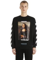 Off-White c/o Virgil Abloh - Monalisa Printed Cotton Sweatshirt - Lyst