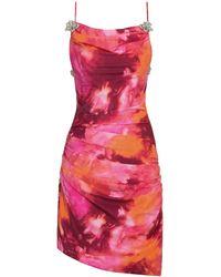 Mach & Mach Flower Stretch Jersey Mini Dress - Multicolour