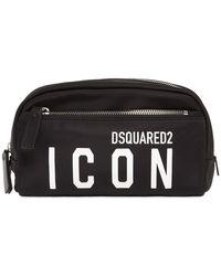 DSquared² Icon ナイロンメイクアップバッグ - ブラック
