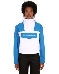 Napapijri Rainforest Cropped Techno Jacket - Blue