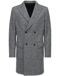 Tonello Double Breasted Wool Coat - Grey