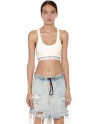 Alexander Wang Top In Maglia A Costine Stretch - Multicolore