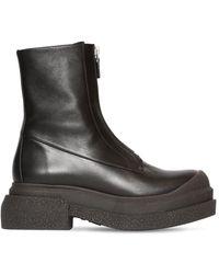 Stuart Weitzman Кожаные Ботинки Charli Zip Sportleift 60мм - Черный