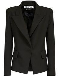 Acheval Pampa Gardel Gabardine Blazer Jacket - Black