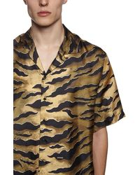 DSquared² Bowlinghemd Aus Seidentwill Mit Druck - Mehrfarbig