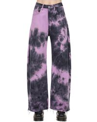Marques'Almeida Tie Dye Cotton Denim Boyfriend Jeans - Purple