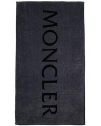 Moncler Toalla De Playa Con Logotipo - Azul