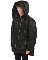 OAMC オーバーサイズ仕様 フード付きナイロンジャケット - ブラック