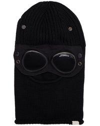 C.P. Company Goggled Merino Wool Balaclava - Black