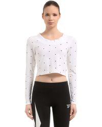 Reebok - Gigi Hadid Cotton Cropped T-shirt - Lyst