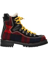 DSquared² | 40mm Canada Plaid Hiking Boots | Lyst