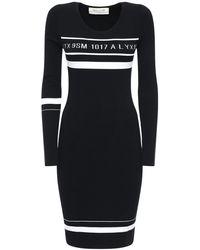 1017 ALYX 9SM Трикотажное Мини-платье - Черный