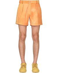 Jacquemus Шорты Из Хлопкового Канваса - Оранжевый