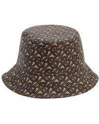 Burberry Sombrero de pescador con monograma estampado - Marrón