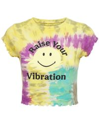Year Of Ours Rainbow Tie Dye Cropped T-shirt - Multicolour