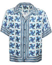 Dolce & Gabbana - Maiolica シルクボウリングシャツ - Lyst