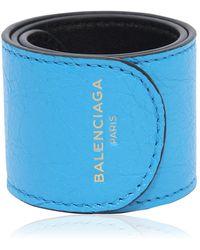 Balenciaga | Cycle Leather Slap Bracelet | Lyst