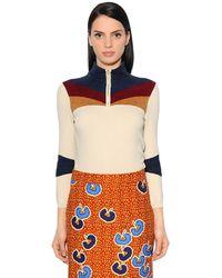 Stella Jean Sweater Aus Strick Und Chenille - Natur