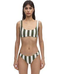 Solid & Striped Elle Safari ライクラビキニトップ - グリーン