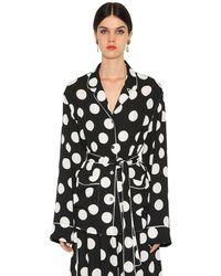 Dolce & Gabbana - Рубашка Из Тонкого Атласа - Lyst