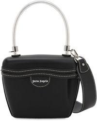 Palm Angels Leather Top Handle Bag - Black