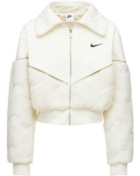Nike Veste Courte En Coton Mélangé Icon Clash - Neutre