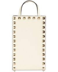 Valentino Garavani - Small Leather Rockstud Shoulder Bag - Lyst