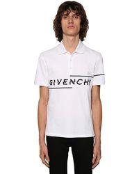 Givenchy Polohemd Mit Logostickerei - Weiß