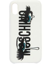 Moschino - Eyes Logo Printed Iphone X Cover - Lyst
