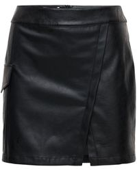 Designers Remix Marie Faux Leather Mini Skirt - Black