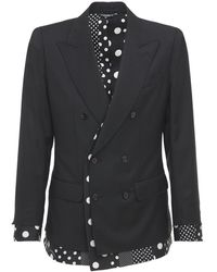 Dolce & Gabbana ウール&シルクジャケット - ブラック