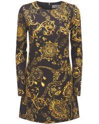 Versace Jeans Couture - Baroque ストレッチジャージーミニドレス - Lyst
